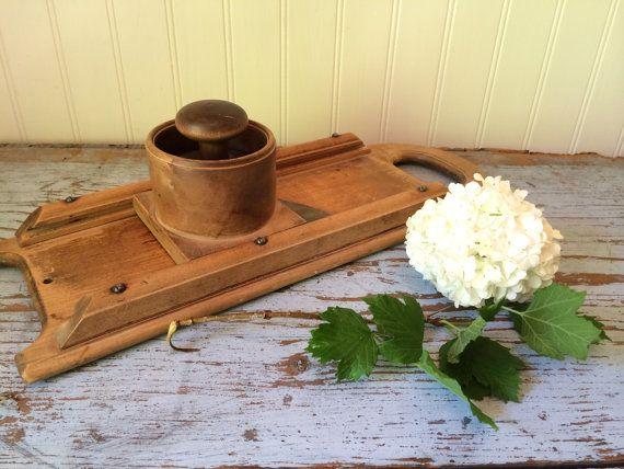 Vintage Wooden Vegetable Slicer Wooden Mandolin by CottageBlu