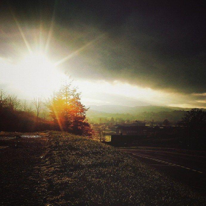 #november #light … #newtown #powys #sunset #valley #trees #autumnfeeling #autumn #fall #beautiful #Wales #foliage #chasingautumn #colors #sun  - LinanDara's Art-n-Folk
