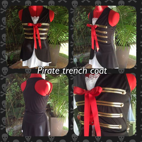 Pirate inspired running top by iGlowRunning on Etsy, $70.00