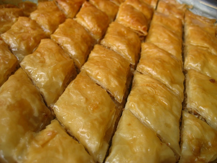 Baklava is just one of those desserts that you only need a small portion of to satisfy a sweeth tooth. It can be very sweet and not sweet at the same time. I like it with a cup of black coffee. I tried baklava for the 1st time some years ago when I was in  Long Beach, CA. Ever since then, I've been hooked on it.