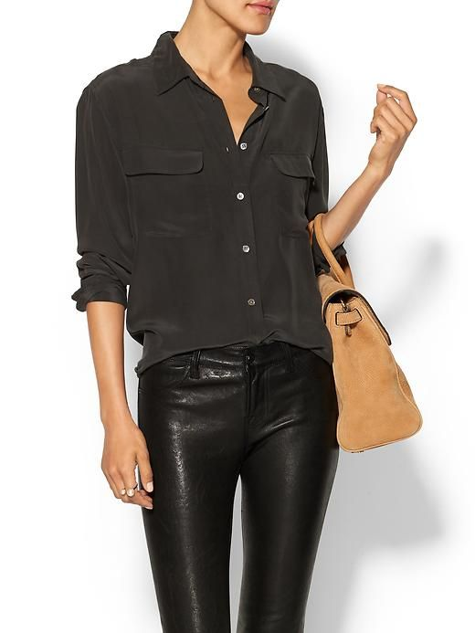 black silk blouse                                                                                                                                                                                 More