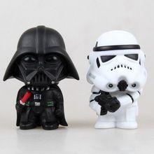 2 pcs Star Wars Darth Vader Stormtrooper PVC modelo figura de ação preto Worrior Clone Trooper Toy(China (Mainland))