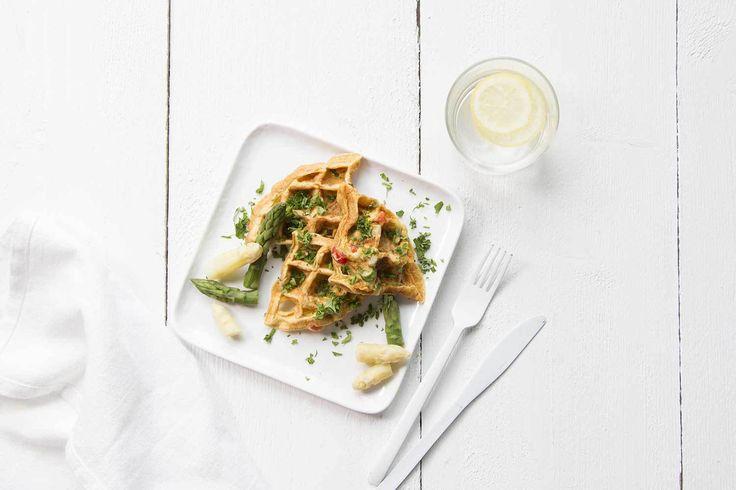 Frittata d'asperges blanches et vertes
