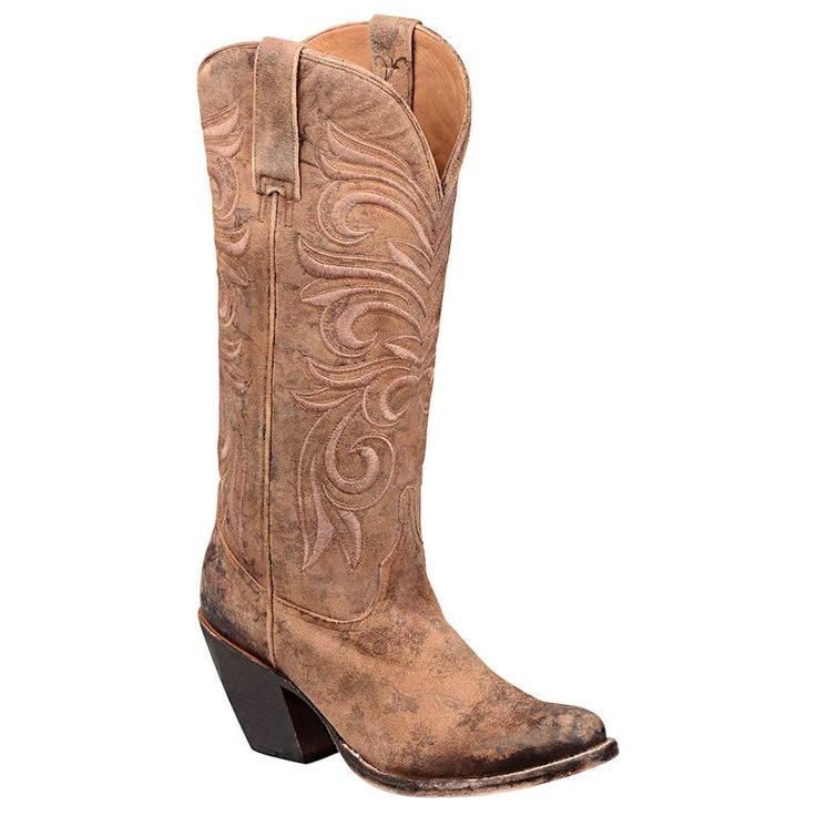 Lucchese Women's Laurelie Embroidered Floral Western Boots