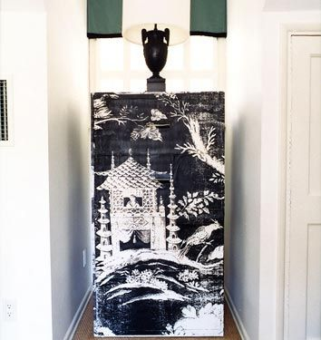 Mary McDonald -  a DIY Chinoiserie file cabinet