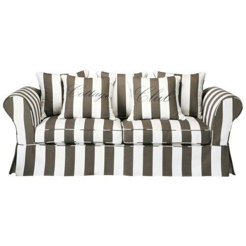 ♡My new striped sofa. Classy. Mijn gestreepte nieuwe bank♡