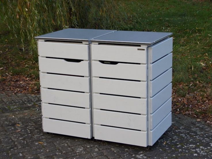 die besten 25 m lltonnenbox edelstahl ideen auf pinterest m llboxen m lltonnenbox und. Black Bedroom Furniture Sets. Home Design Ideas