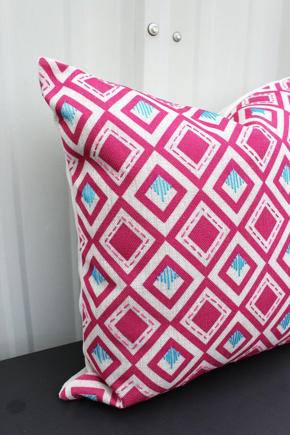 Great Christmas Gifts For Mom Part - 34: Boho Pink Diamond Throw Pillow Cover - Great Gift For Mom, Great Christmas  Gift For