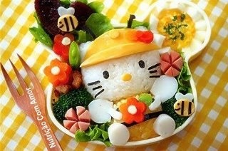 ;): For Kids, Lunches Boxes, Bento, Boxes Lunches, Sushiart, Hello Kitty, Foodart, Food Art, Sushi Art
