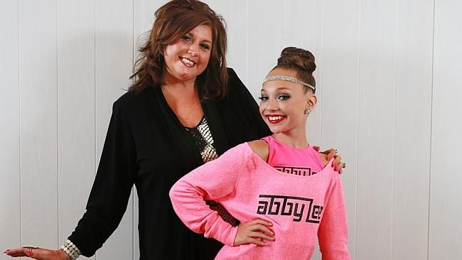 Star of the US show Dance Moms Abby Lee Miller (L) and Maddie Ziegler pictured at Randwic