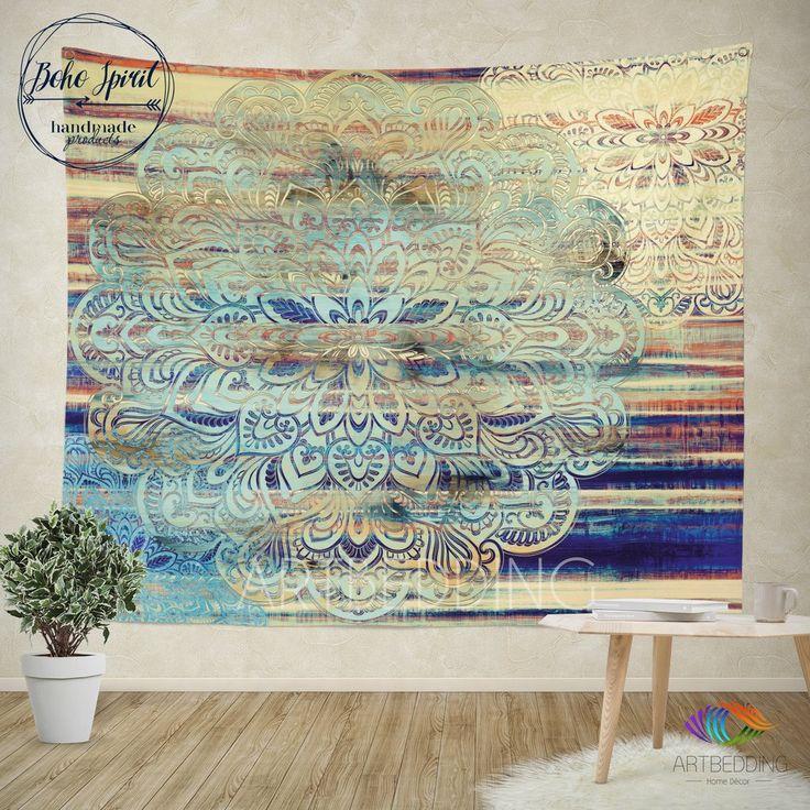 Mandala wall tapestry, bohemian tapestry, bohochic vintage mandala wall…