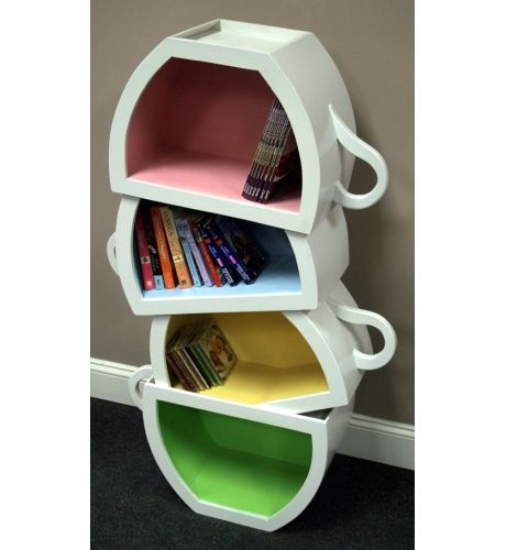 WoodCurve Teacup Bookshelf
