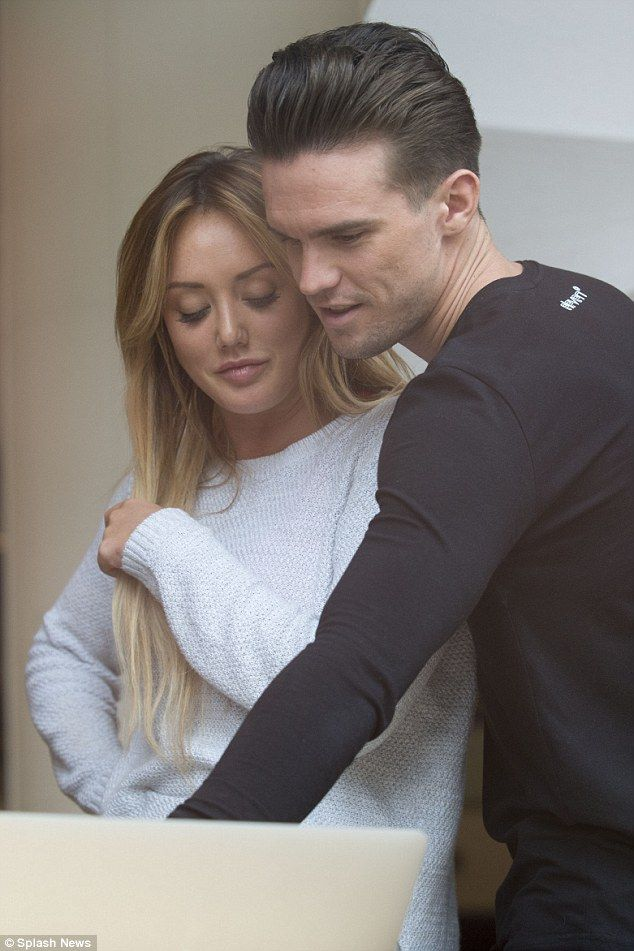 Close bond: Charlotte Crosby and Gaz Beadle were unable to keep their hands off each other as they continued with their promotional duties in Australia on Monday
