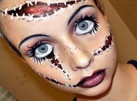 Crazy Doll face Makeup!