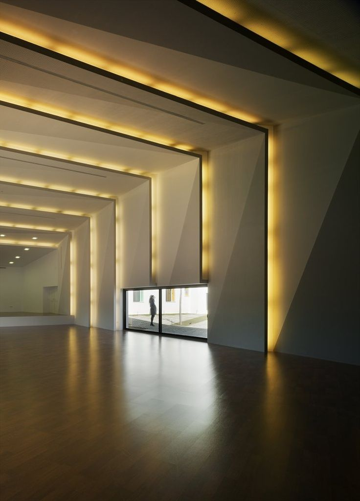 Light builds interior yellow lights on the wall and for Wall design in hall
