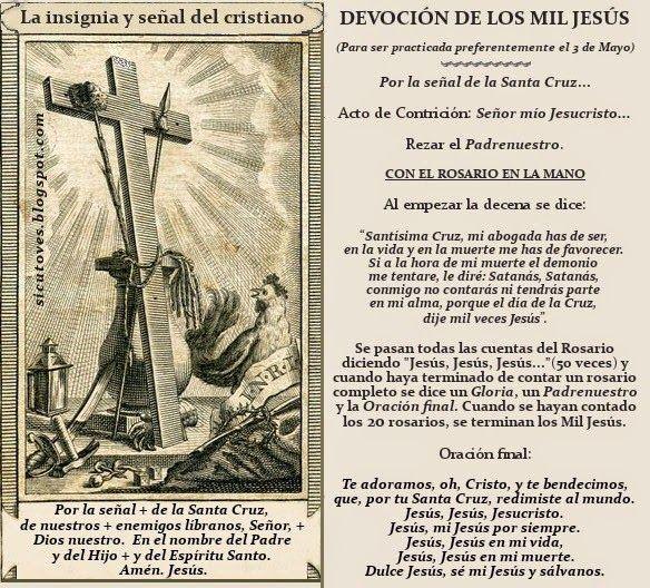 """Como ovejas sin Pastor: LA INVENCIÓN DE LA SANTA CRUZ; LA TRADICIONAL DEVOCIÓN DE """"LOS MIL JESÚS"""""""