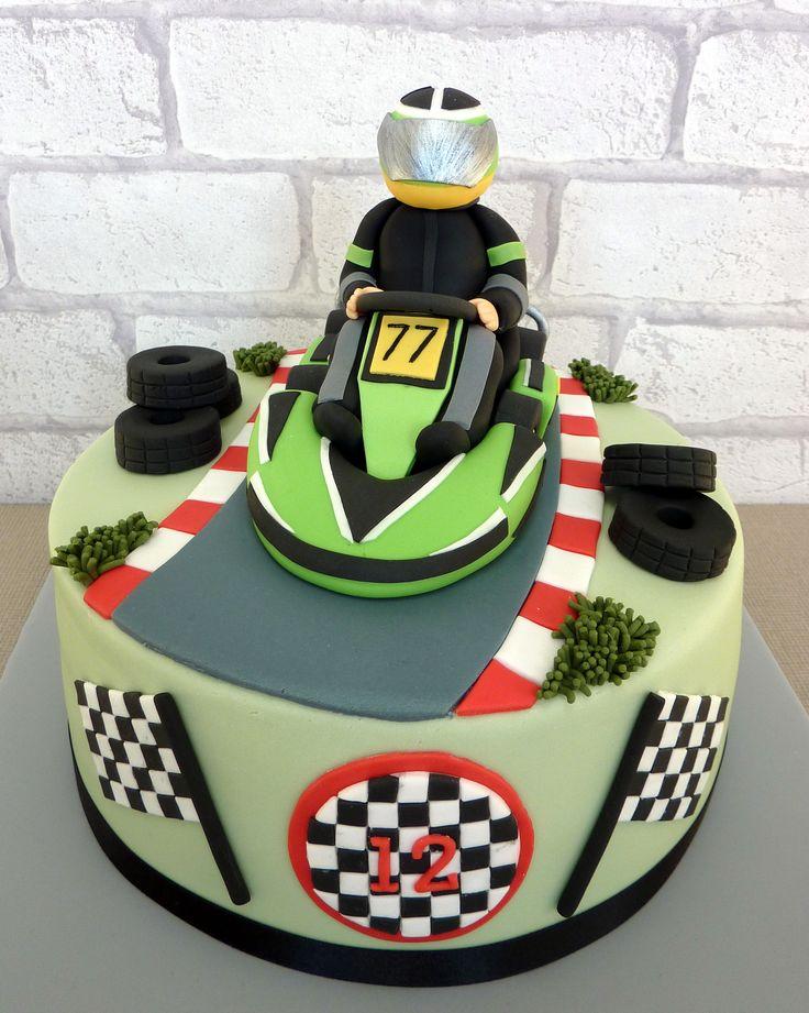 Go Karting birthday cake