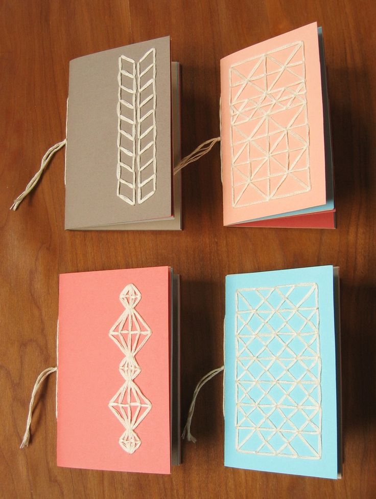 Make notebooks with stitched covers for collecting leaves, feathers, stickers, drawings, or anything else you find on your adventures!