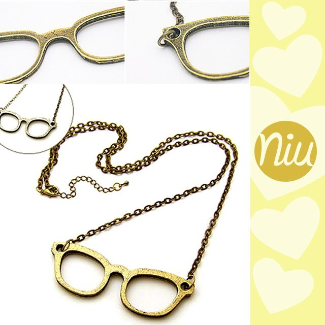 Collar vintage de gafas, encuentra esto y mucho más en: www.niuenlinea.co