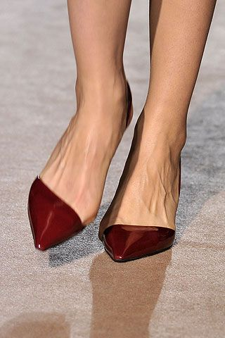 Stella McCartney // I love pointy shoes, they help extend the line of my legs as I'm a short lass.