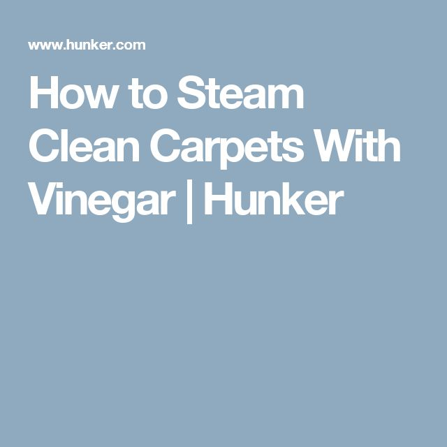 How to Steam Clean Carpets With Vinegar | Hunker
