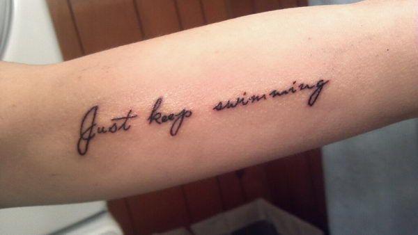cursive tattoos