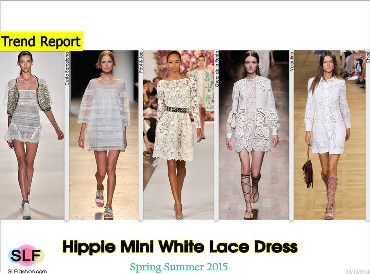 Hippie Style Mini White Lace Dress Trend for Spring Summer ...
