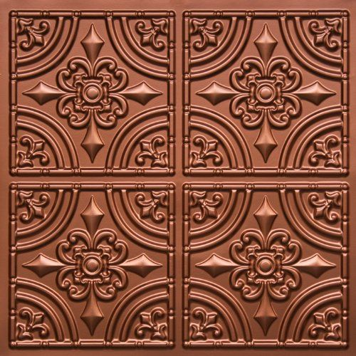 "Victorian Ceiling Tiles | Discounted Victorian Faux Copper Plastic Ceiling Tiles #205 PVC 24""x24 ..."