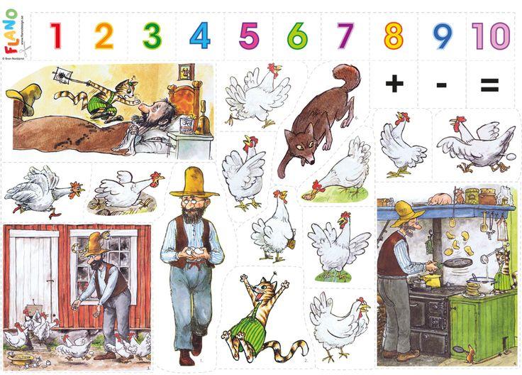 Sven Nordqvist underbara illustrationer till Pettson och Findus. Denna flanosaga är lättläst, rolig och lärorik räknesaga. Följ med På äventyret med räven.