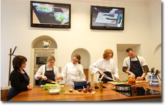 the kitchen in the castle cookery school - Google Search