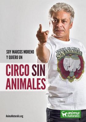 """""""Soy un artista voluntario y los animales son forzados a trabajar"""" advierte el actor venezolano Marcos Moreno.  http://www.animanaturalis.org/d/536"""