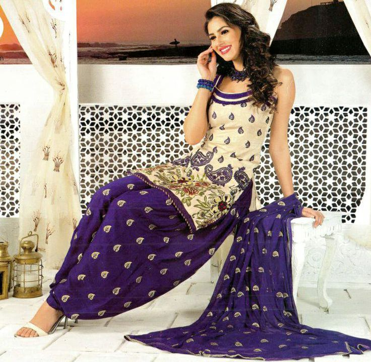 Punjabi Kudi - Embroidery Patiyala Suit