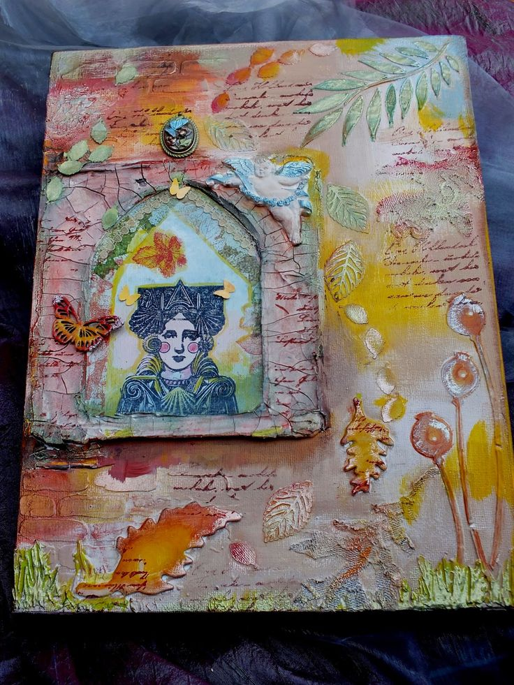 Magpie Makes: Painting Autumn, Mixed Media Canvas. | Unruly PaperArts