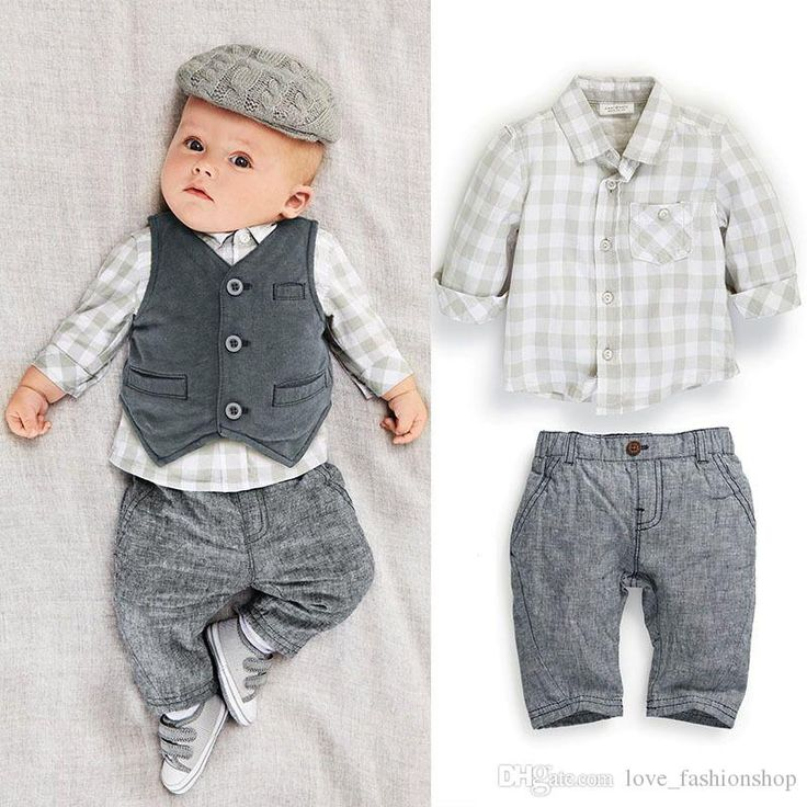 Wholesale 2015 Baby Boys Suits European Style Fashion Shirt+Vest +pants Plaid Suits Children Boys outfits Sets Infant Cotton Suit babies clothes from China :$3.21 | DHgate.com
