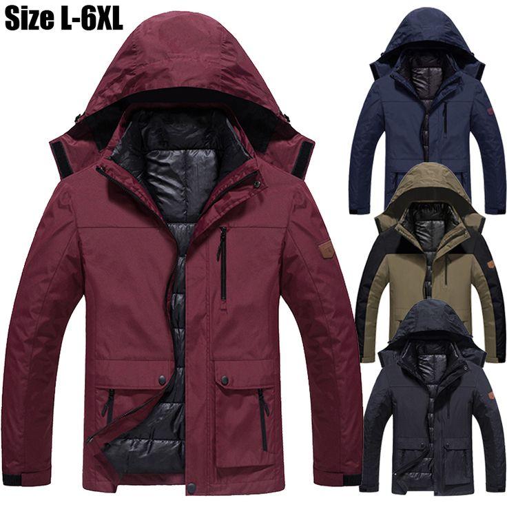 Size 5XL 6XL Winter Jacket Men/Women Hooded Waterproof Thickening Warm Parka Coat Snow Jacket Brand Casual Windbreaker Men CF005