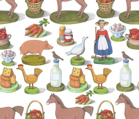 Happy Farm fabric by chicca_besso on Spoonflower - custom fabric