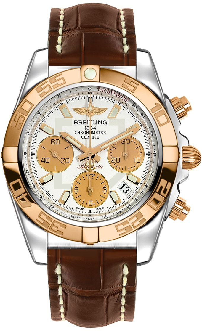 CB014012/G713-725P BRAND NEW Breitling Chronomat 41 Mens Two Tone Automatic Chronograph Watch - Lowest Price Guaranteed 100% Authentic FREE Overnight Shipping