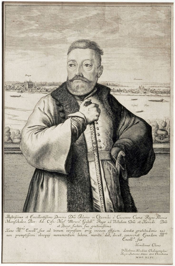 Court Marshall Adam Kazanowski against Vistula and his estates in Praga and Skaryszew (Warsaw) by Willem Hondius, 1646 (PD-art/old), Muzeum Historyczne m.st. Warszawy
