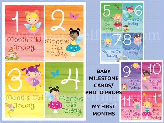 Baby Milestone Cards  Photo Props  Baby's First by MerryElfmas