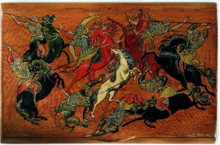 Battle, Palekh Miniature, 1930.jpg