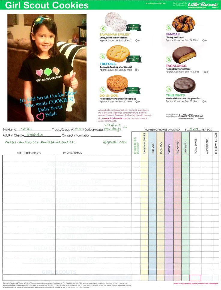 206 best Girl scout cookie time images on Pinterest Gs cookies - duplicate order form