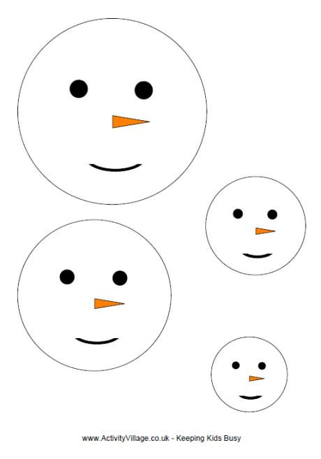 how to draw a snowman face