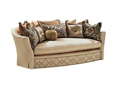 Flexsteel Sofa Shop for Marge Carson Giovanna Sofa and other Living Room Sofas at Noel Furniture in Houston TX A semi circle shaped sofa with a great nail head design