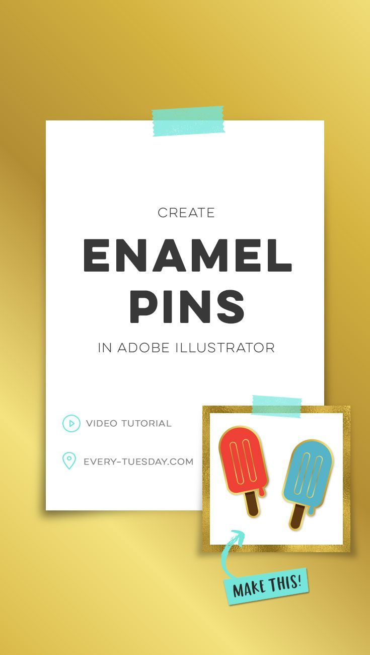 Create Enamel Pins In Adobe Illustrator With Images Lettering