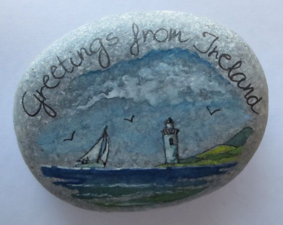 Greetings From Ireland-Pebble Seascape No.24 by PebbleAndMosaic