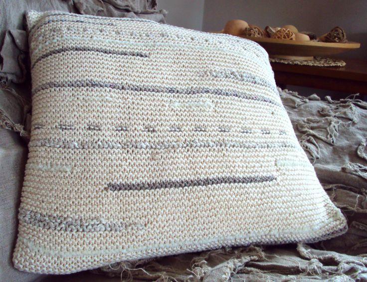 Garter Stitch Cushion Cover