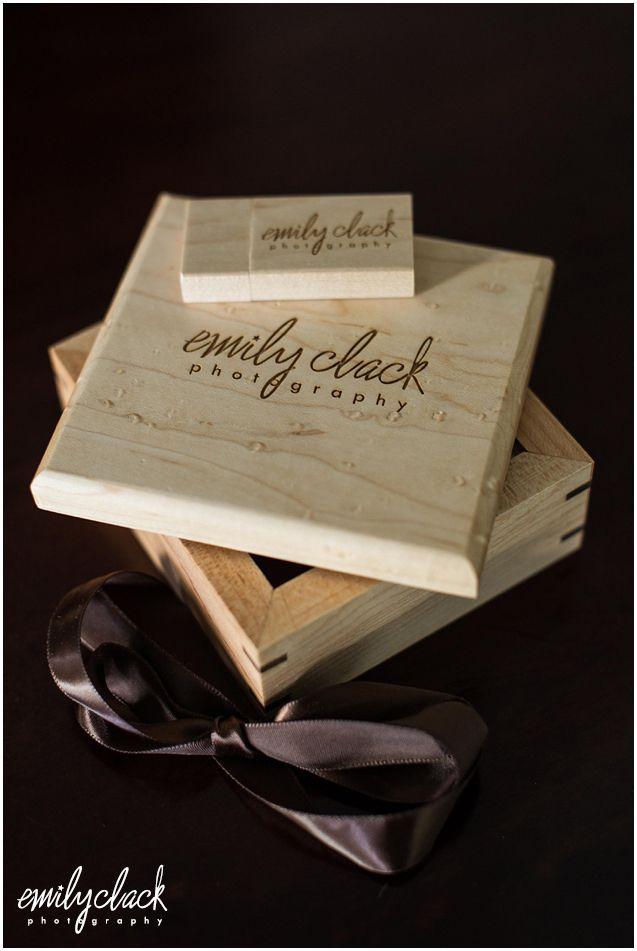 Custom Engraved Lidded Wood Box And Maple Wood Flash Drive