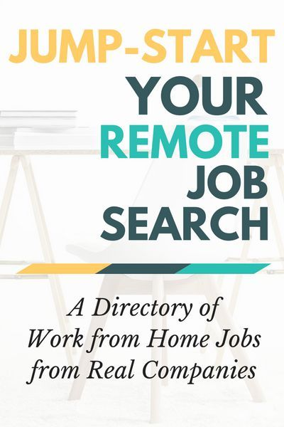 After you decide to work from home, check out this directory of remote jobs from real companies to jump-start your job search!