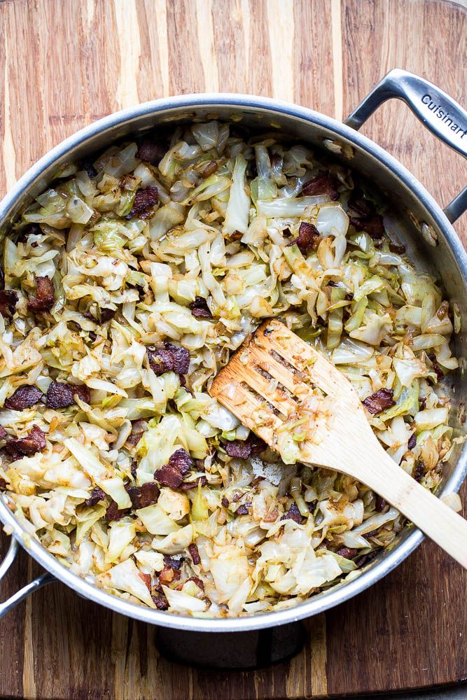 Who knew that cabbage caramelized in bacon drippings could be such a delicious and easy side dish?