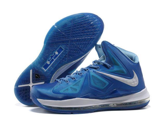 Nike Zoom Lebron 10 X Blue Diamond Shoes Blue/White